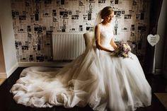 Gorgeous two layer chapel length rhinestone edge wedding bridal veil from The Wedding Veil Shop