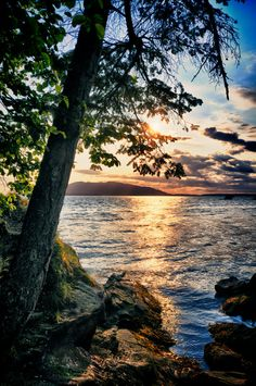 Sunset at Larrabee State Park, Washington State, Pacific Northwest by Visionitaliane