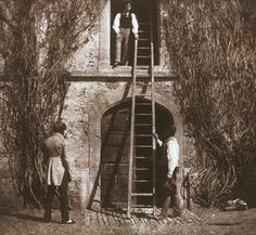 William Henry Fox Talbot (1819-1894) The Ladder, April 1844.  Salt print from calotype negative.