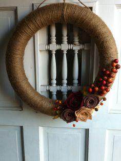 Made: Fall Burlap Wreath