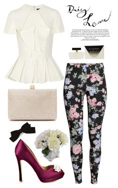 """""""~I like it simple~"""" by nicolesynth ❤ liked on Polyvore featuring H&M, Alexander McQueen, Badgley Mischka, Forever New, New Growth Designs and Yves Saint Laurent"""