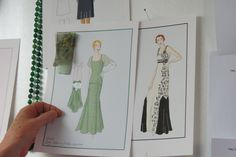 Evening dress sketches from Indian Summers Costume Designer Nic Ede | Courtesy of Rebecca Eaton for MASTERPIECE