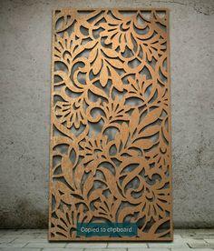 Decorative Screens - Garden Screen - metal Wall Art - Laser Cut 1800x900
