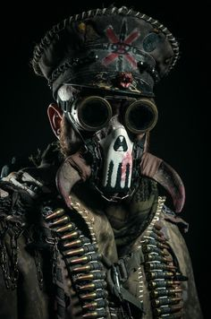 Fate Studio2016 (73 von 208) Post Apocalyptic Costume, Post Apocalyptic Art, Post Apocalyptic Fashion, Post Apocalypse, Mad Max, Art Steampunk, Skull Wallpaper, Cool Masks, Horror Art