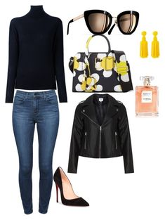 """Untitled #8"" by anavictoria090808 ❤ liked on Polyvore featuring STELLA McCARTNEY, Theory, Christian Louboutin, Marc Jacobs, Deepa Gurnani and Zizzi"