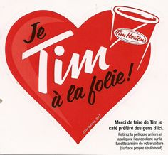 2013 - Valentine Window Decal promotion - French - 4 3/4 by 4 1/2 inches 1