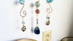 Wire marble wind chime