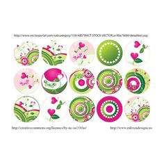 free bottle cap image pink green circles (free download) | Enliven Designs