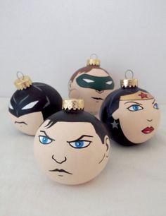 Superhero X-Mas Ornaments
