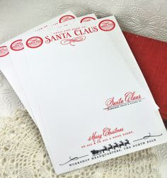 Santa's Letterhead by Dawn McVey for Papertrey Ink (September 2012)