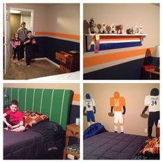 Boys bedroom makeover football theme