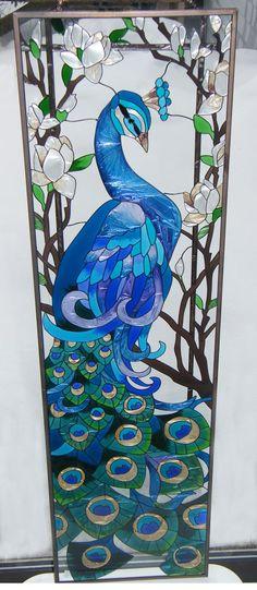 10x37 Glass Art Panel ~ at The EnchantedGarden.net