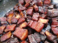 Pork belly burnt ends - MeatandMetalNO Pork Belly Burnt Ends, Barbecue, Burns, Meat, Food, Barbacoa, Bbq, Meals, Outdoor Parties