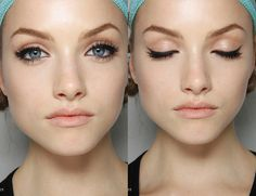 This is how I do my makeup daily, except I add a rosy cheek and my eyes are definately not blue.