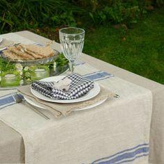linen-table-runner-100-linen-Striped-natural-blue