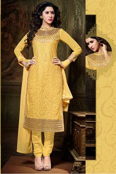 Opulent Yellow Color Designer Salwar Kameez