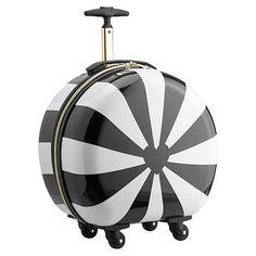 Pottery Barn Teen The Emily & Meritt Hard-Sided Pinwheel Stripe Round Carry-On Carry On Suitcase, Carry On Luggage, Luggage Bags, Travel Luggage, Travel Bags, Teen Luggage, Cute Luggage, Sun Shade Tent, Hard Sided Luggage