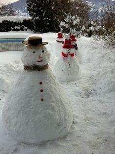 Les bonhommes de neige de grand-papa.