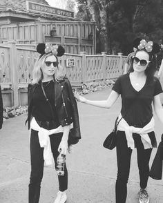Disneyland VIDEO - only Michelle Dockery and Laura Carmichael could make those ears look so awesome =)