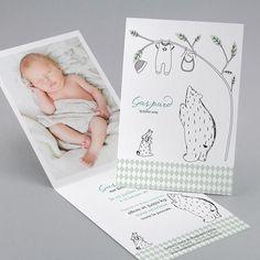 Faire-part de naissance personnalisés, faire-parttendance, fil à linge fpc