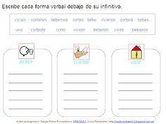 Clasifica los verbos conjugados con su infinitivo