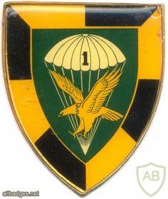 SOUTH AFRICA 44 Para Bde, 1 Parachute Battalion arm flash, type II , left Parachute Regiment, Army & Navy, Special Forces, Beret, Porsche Logo, South Africa, Badge, Arms, Type
