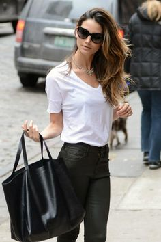 Lily Aldridge. If you have the bod to carry this off - this can look stunning. So simple yet gorgeous.
