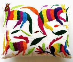 I want embroidered Mexican pillows for my bed! #MexMonday