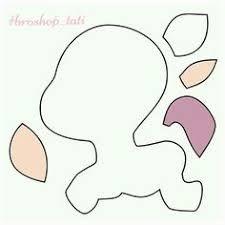 Resultado de imagem para molde unicornio em feltro