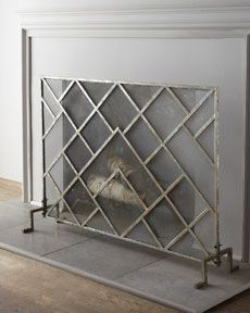 Geometric Fireplace Screen