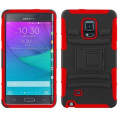 Zizo Advanced Armor Holster Combo Galaxy Note Edge Case - Red/Black