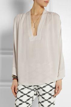 Isabel Marant|Zora silk-georgette top