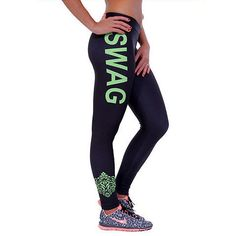 Fashion Women Swag Fitness Leggings Work Out Print Pants Sports Leggings 2e8cc12fa55eb