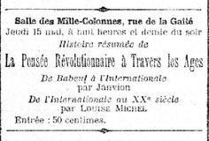 Réunion en mai 1902 à Paris avec Janvion et Louise Michel - Louise Michel
