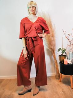 Jumpsuit Vibha Berry Sustainable Clothes, Berry, Jumpsuit, Model, Dresses, Fashion, Overalls, Vestidos, Moda