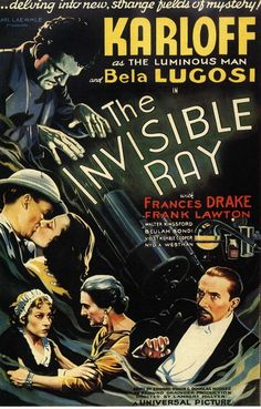 vintage movie poster:  the invisible ray