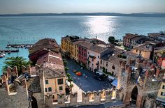 Sirmione, on the south shore of Lake Garda.