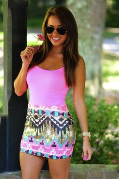 Looks so summery, is that a word? All About Fashion, Passion For Fashion, Love Fashion, Womens Fashion, Fashion 2015, Casual Outfits, Cute Outfits, Fashion Outfits, Spring Summer Fashion