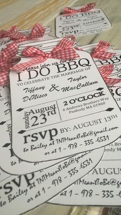 I DO BBQ Personalized Invitations by BaileyActiveEtsy on Etsy                                                                                                                                                      More