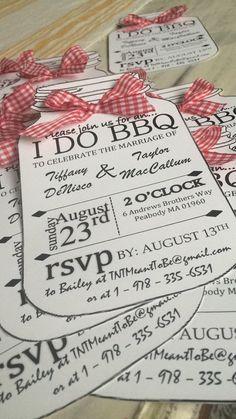 I DO BBQ Personalized Invitations by BaileyActiveEtsy on Etsy