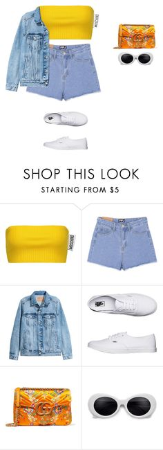 """""""Untitled #444"""" by xoxotiffvni on Polyvore featuring Moschino, Vans and Gucci"""