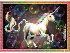Pink and Purple Unicorn Pegasus animation | Bubbles - unicorns Photo