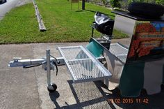 #TopDogCarts - Cooler Rack Extension on a mobile food cart