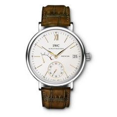 IWC Men's IW510103 'Portofino' Hand Wound Eight Days Brown Watch