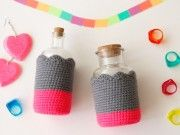 How to Make Dip-Dyed Crochet Bottle Cozies