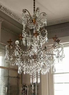 Large Chandelier in Lighting from Alex Macarthur. Statement chandelier that would make any room or woman glow. French Chandelier, Antique Chandelier, Antique Lamps, Chandelier Lighting, Mirrors And Chandeliers, Crystal Chandeliers, Restaurant Berlin, Luz Artificial, Le Far West