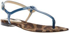 DOLCE & GABBANA Leopard Print Sole Sandal - Lyst