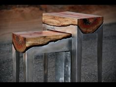 Stunning Wood Aluminum Table Design Ideas - YouTube (And Awesome Resin Topography Table)