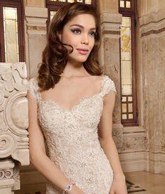 Demetrios 2015 Wedding Dress Style 1494 $1501-$3000 (front detail)