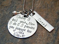 Gift for Bride's Daughter  Personalized by TenSevenDesigns on Etsy